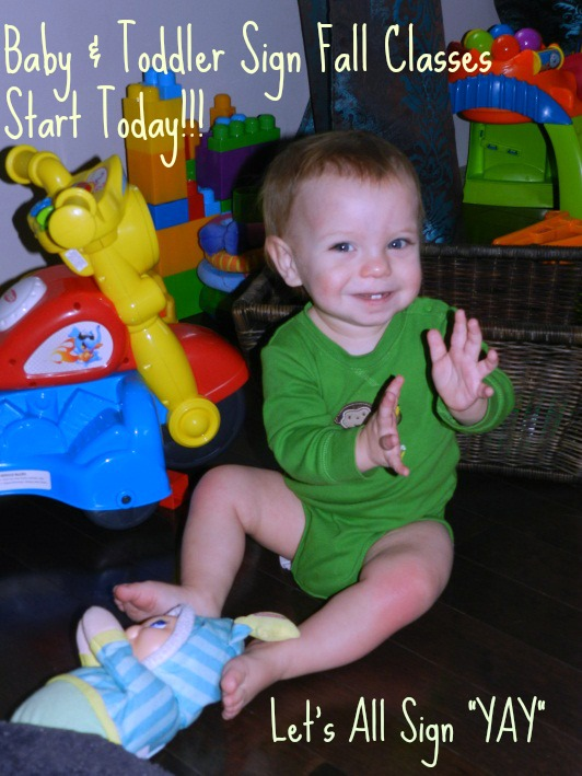 Baby & Toddler Sign Language Fall Classes Start Today!!
