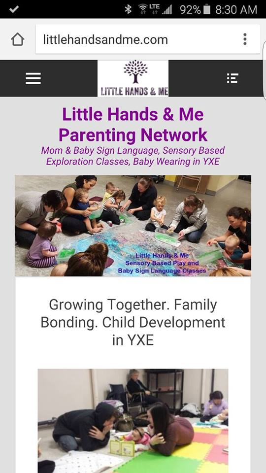 website little hands and me parenting network saskatoon